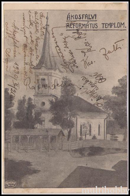 Localitatea Acatari - Judetul Mures - 1904
